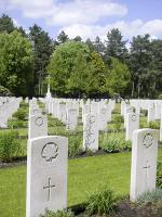 Among the Canadian graves at Bergen-Op-Zoom in the Netherlands is that of Robert Charles Dionne, one of five members from a local family who served in the Second World War. Canadian War Graves Commission photo.