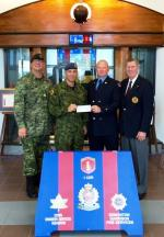 CMEA Edmonton Chapter presents a cheque to the Firefighters Burn Treatment Society