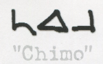 Chimo written in  Inukitut