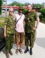 Col Comdt Steve Irwin, Larry Ramore and Branch CWO Ron Swift