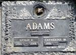 Memorial Plaque Leslie Ernest Adams in Heatherdale Memorial Gardens