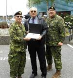 CME Colonel Commandant, BGen Steve Irwin (Ret'd), LCol Doug Foreman (Ret'd) and CME Branch CWO,