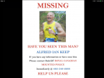 Missing Poster Alfred Ian Keep