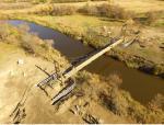 Pedestrian Suspension Bridge across the Moose Jaw River