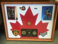 Shadowbox made for Cpl Stacey's family
