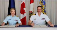 The same document was signed in Esquimalt, B.C., on April 8, 2015 by Col Quinn and Capt(N) Steven Waddell, the Base Commander. // Le même document a été signé à Esquimalt (C.-B), le 8 avril 2015 par le Col Quinn et le Capv Steven Waddell, le commandant de la base.