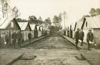 American camp in Captieux, France (Collection of the Mayor of Captieux)
