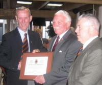 CME Branch Commendation award BGen DesLauriers, Mr. Bill Stone and CWO Patterson