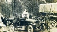 Officers and men of the 48th Company, Canadian Forestry Corps (Collection David Devigne)