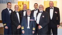 Present and former COs in attendance at the 1 ESU Mixed Dining-In held to commemorate the Unit's 75th Anniversary. From left to right, LCol Thomas Murphy (current CO), LCol Dave Riddell (Ret'd), LCol Steve McEwen, LGen Chris Whitecross, LCol Phil Baker, Col Ed Everest (Ret'd), and Col Tom Carr (Ret'd).