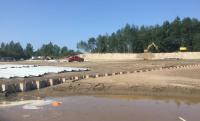 Installation of the sheet pile wall containment cell, South Escarpment site at CFB Goose Bay, NL