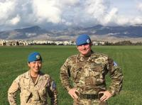 Capt Choi and UNFICYP Colleague