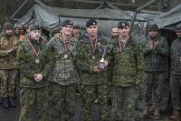 Team 1, Sapper Mark MacDougall (left middle) and Sapper Mathieu Lavoie (right)