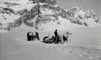 Canadian-led survey party near Wall Mountain Antarctica about 1945
