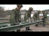 3-minute Army News video covering an MGB build in Meaford.