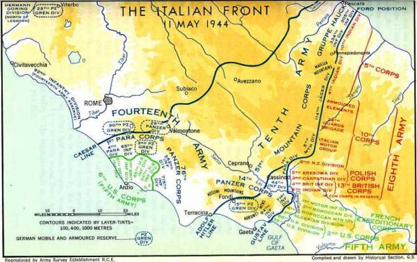 The Italian Front days before the Hilter Line battles