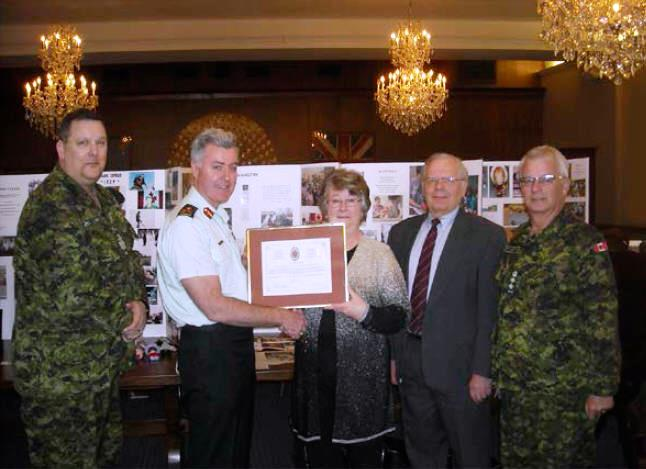 Award of CME Branch Commendation to Mrs. Shirley O'Connell