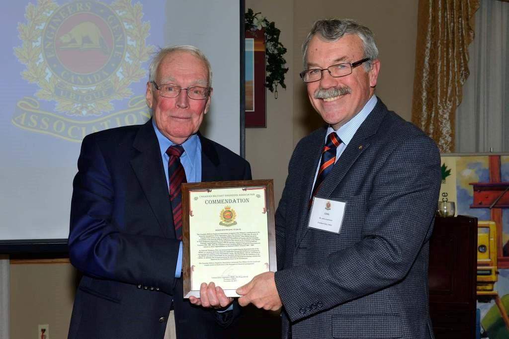 CMEA Commendation - Major Don Wilson, CD (Ret'd)