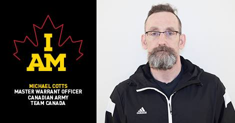 MWO Michael Cotts, CD (Ret'd) Invictus Games Competitor