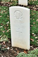 Sapper Cowan's headstone at Beny-Sur-Mer Cemetery