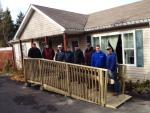 Ramp built for Mrs Susan Dempsey by CFB Greenwood Chapter of the CMEA.