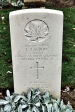 """His memory is as dear today as at the hour he passed away."" Sapper Lacroix's headstone at Beny-Sur-Mer"