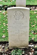 """God's Greatest Gift - Remembrance"" - Lt Stalker's headstone at Beny-sur-Mer Canadian War Cemetery"