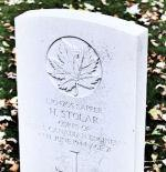 Sapper Stolar's headstone at Beny-Sur-Mer Cemetery