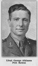 Lt George Atkinson, MC