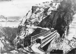 """The 170 ft """"Capilano"""" Bridge was constructed near Ortona during the Italian Campaign. It was erected in four hours by 4th Field Company, RCE just before Christmas 1943."""