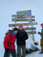 Two proud CMEs, OCdt Fraser Clark and OCdt Jacques Pecora, at Uhura Peak