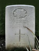 Headstone for Spr Cyril Hodson in Dieppe Canadian War Cemetery (Hautot-sur-mer) ; Seine-Maritime, France