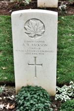 Sapper Jackson's headstone at Beny-Sur-Mer.(2010)