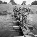 Kapok bridge used during a training exercise in England.