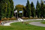 Wall of Remembrance ereected by the Korea Veterans Association of Canada at the Meadowvale Cemetery in Brampton, Ontario a