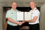 LCol Fleet receiving CDS Commendation