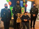 CWO/Adjuc Golden, Sgt St-Louis, Sgt Bill Ludlow (Ret'd/ret), LCol/Lcol Doran
