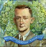 Portait of Maj Cameron from the mural at the Military Museum in Calgary, AB