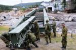 Hurricane disaster relief - bridge construction in Newfoundland