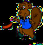 Curling Beaver