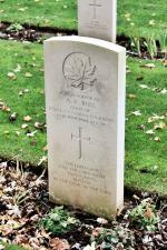 Corporal Ross's head stone at Beny-Sur-Mer Cemetery.