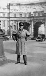 Lt Stalker on leave in London
