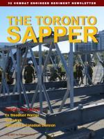 THE TORONTO SAPPER - cover