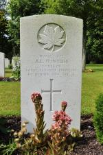 L/Cpl Arthur Emil Winters' Grave Marker in the Bergen-Op-Zoom Canadian War Cemeter