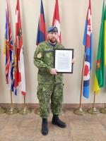 WO Shawn Stevens, 143 Construction Engineering Flight with CDS Commendation