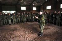 Commander Canadian Army, LGen P.J. Devlin, addresses 4 ESR at the conclusion of SAPPER STAKES 2012 // Le commandant de l'Armée canadienne, le Lgén P.J. Devlin, parle aux membres du 4 RAG à la fin de Sapper Stakes 2012