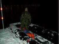 Cpl Therrien ready to load an infantry section into an assault boat.