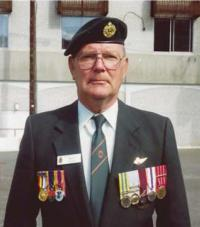 Marvin Johnston at Korean Veterans Association meeting – Kamloops 1991