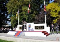 "The Saluting Base at CFB Chilliwack has now come back to life as a memorial. We can all be very proud of what has been achieved over the past year. Retired Sappers ""Everywhere"" can take a well‐earned bow."