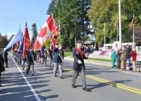 March Past with #280 Vedder Golden Legion Colour Party leading